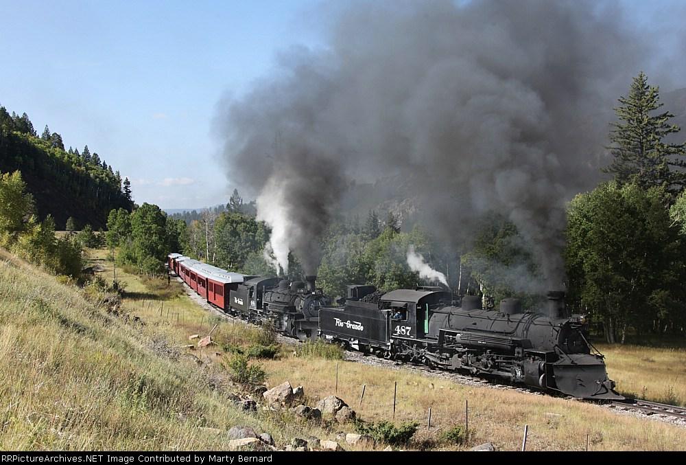 Cumbres & Toltec Scenic RR #s 487 and 488